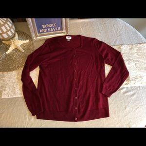 🐝🐝Size XL Old Navy Burgundy Cardigan